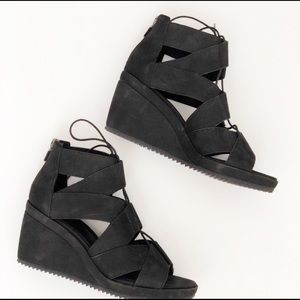 EILEEN FISHER Dibs Wedge Sandals Size 6